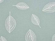 Canvas bedruckt Blätter, mattes mint