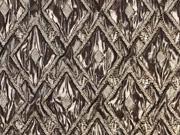 Cocktailstoff Rauten metallic, gold
