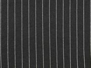 Jersey Nadelstreifen, schwarz