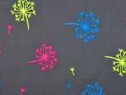Softshell Pusteblumen, neon dunkelgrau