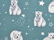 Jersey Eisbären Sterne, dunkles altmint