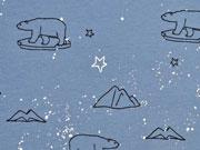 Jersey  Eisbären Sterne Glitzer, rauchblau