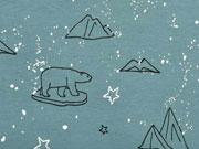 Jersey  Eisbären Sterne Glitzer, dunkles altmint