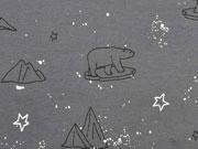 Jersey  Eisbären Sterne Glitzer, dunkelgrau