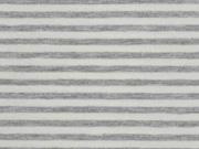 Jersey gestreift, grau meliert weiß
