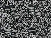 Jersey gestreifte Dreiecke, weiß schwarz