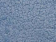 Teddyfleece Teddyfell aus Baumwolle, jeansblau