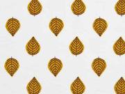 Jersey Blätter, ocker cremeweiß