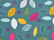 Jersey Blätter, bunt altmint