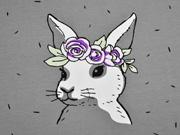 Jersey Hase 2 in 1 Panel Farbeffekt, grau