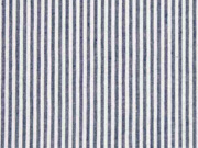 Seersucker Baumwollstoff Streifen, weiß blaugrau