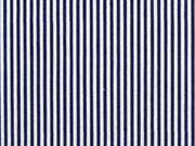 Elastische Baumwolle Streifen, weiß dunkelblau