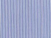 Elastischer Blusenstoff Streifen, blau weiß