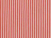 Elastischer Blusenstoff Streifen, rot weiß
