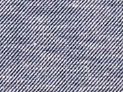 Baumwolle Leinen, dunkelblau weiß meliert