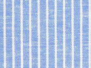 Leinen Viskose Nadelstreifen, hellblau meliert
