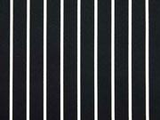 Baumwollsatin Streifen, weiß schwarz