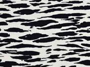 Viskosejersey Tierprint, schwarz creme