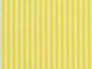 Baumwolle Streifen 2mm, gelb weiß