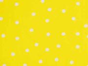 Baumwolle unregelmäßige Punkte 3mm, weiß auf gelb