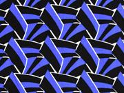 Viskose grafisches Muster italienischer Stil, weiß blau schwarz