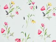 RESTSTÜCK 30 cm Baumwolle Blumen, hellmint