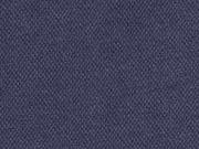 Piqué T-Shirt Stoff uni, dunkelblau