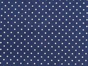 Baumwollstoff Punkte 0,2 cm breit, weiß dunkelblau