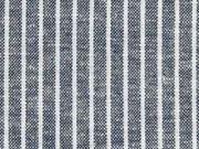 Leinen Viskose Nadelstreifen, dunkelblau meliert