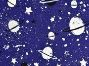 Jersey Weltall Planeten Sterne Glow in the Dark, marineblau