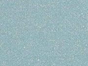 RESTSTÜCK 38 cm Sweatstoff silber Glitzer angeraut, altmint