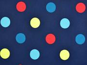 Softshell Punkte, bunt dunkelblau