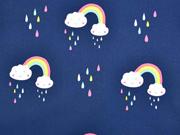 Softshell Regenbogen Tropfen Wolken, dunkelblau