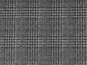 Jacquardjersey Glencheck, schwarz grau