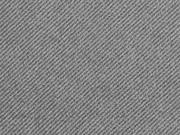 Twill elastisch angeraut, grau