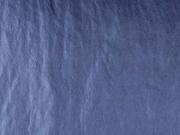 Jackenstoff Blousonstoff metallisch glänzend, dunkles jeansblau