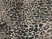 Strickjersey kleines Leopardenmuster Glitzer, beige