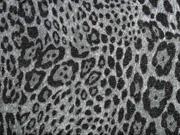 Strickjersey Leopardenmuster Glitzer, grau