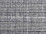 Mantelstoff Glencheck Hahnentritt Doubleface, weiß schwarz