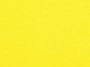 Bündchenstoff Meterware Glattstrick uni, Zitronengelb