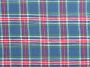 Flanell Stoff Schottenkaro, grün rot jeansblau