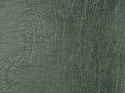 RESTSTÜCK 21 cm Vintage Lederimitat geprägte Optik in metallic grün