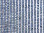 Leinen Viskose Nadelstreifen, jeansblau meliert