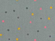 Baumwollstoff Punkte 3 mm, mattes dunkelgrün