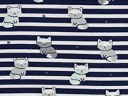 Jersey Streifen Schneefüchse, dunkelblau