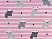 Jersey Streifen Schneefüchse, rosa