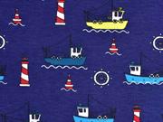 Jersey Fischkutter Leuchttürme, marineblau