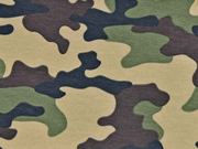 Sweatstoff Camouflage, khaki braun beige