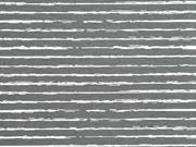 Jersey Streifen blurry stripes, weiß grau