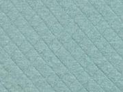 Steppjersey Baumwolle Rauten, mattes mint